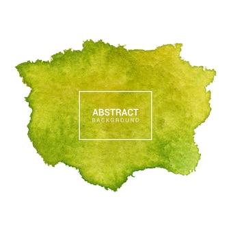 手描きの緑と黄色の抽象的なテクスチャ背景