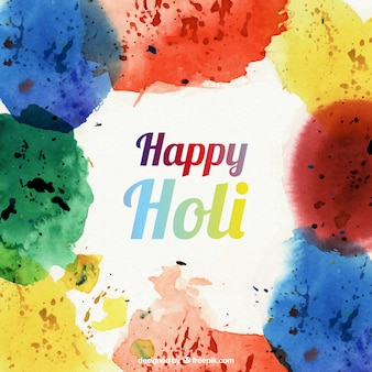 Hand painted happy holi background