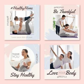 Коллекция постов о здоровье и фитнесе в instagram с фото