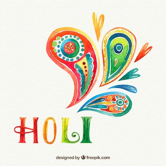Hand painted holi background