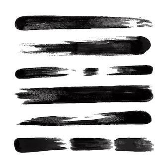 Collezione di pennelli a inchiostro dipinti a mano