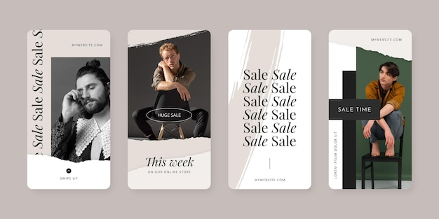 Hand painted instagram sale stories collection with photo