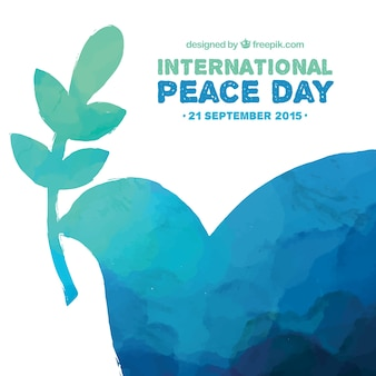 Hand painted international peace day background
