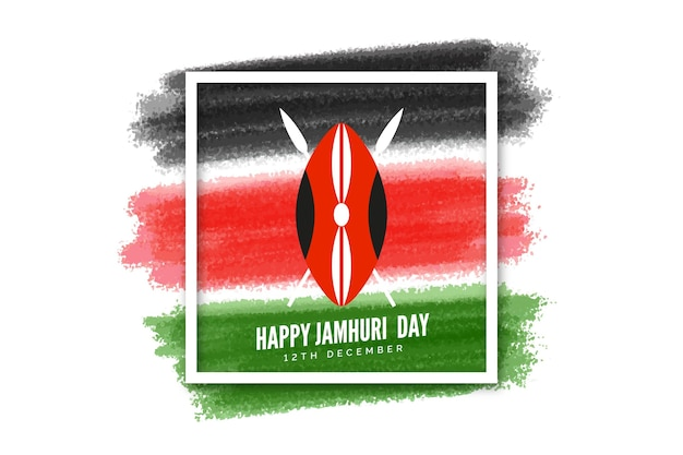 Hand painted jamhuri day