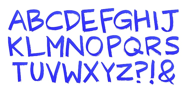 Раскрашенные вручную буквы