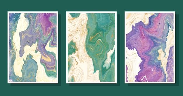 手描きの液体大理石カバーコレクション