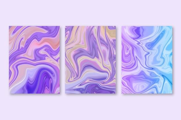 手描きの液体大理石カバー