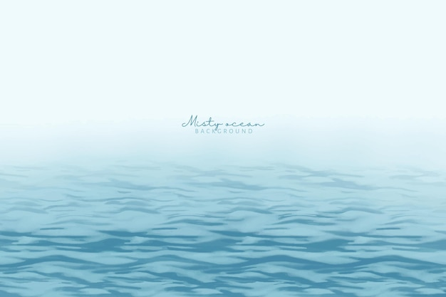 Hand painted misty ocean background
