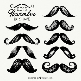 Hand painted movember mustaches
