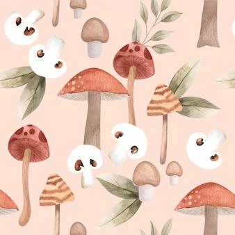 Motivo a fungo dipinto a mano