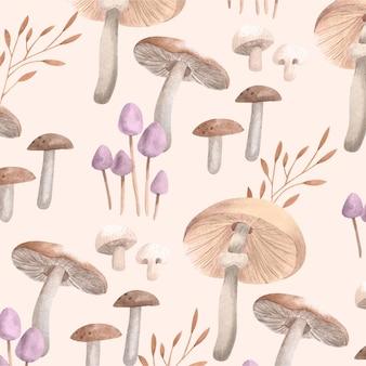 Hand painted mushroom pattern