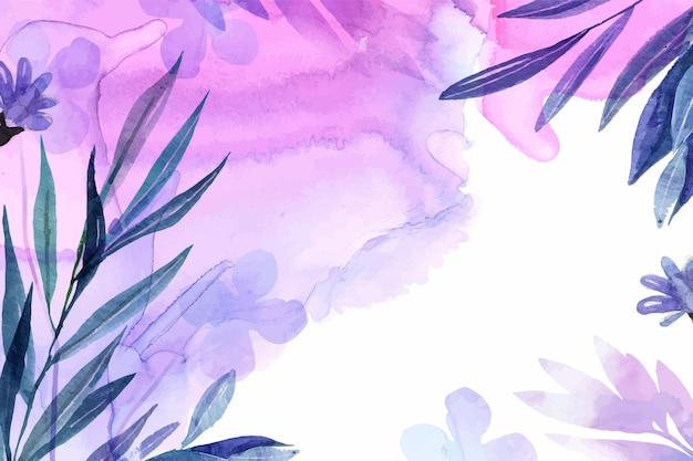 Hand painted nature background