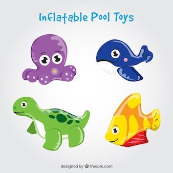 Dipinte a mano bella piscina giocattoli gonfiabili di animali