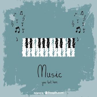 鍵盤楽器のベクトルの背景