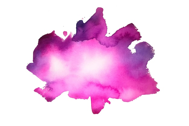 Ручная роспись розовой акварельной текстуры пятна