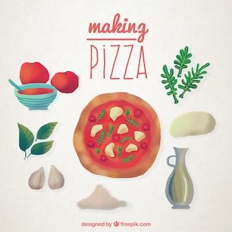 手描きピザのレシピ