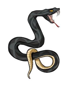 Ручная роспись ядовитого змея