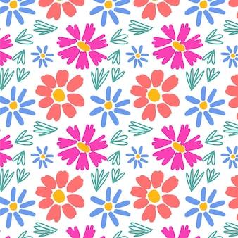 자유형 예쁜 꽃 무늬