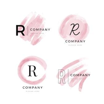 손으로 그린 r 로고 컬렉션