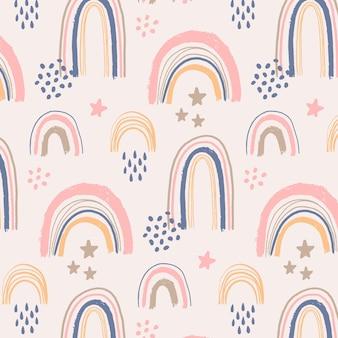 자유형 무지개 무늬 디자인