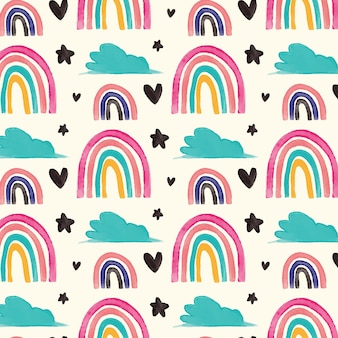 Hand painted rainbow pattern