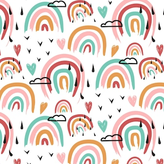 Ручная роспись радуги