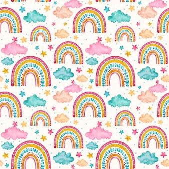 Motivo arcobaleno dipinto a mano