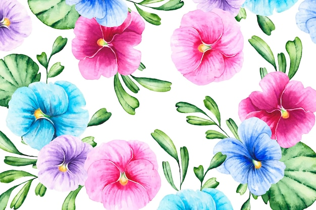 Hand-painted realistic floral background