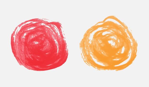 手描きの丸い形