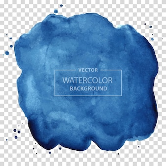 Hand painted round stain isolated on transparent background