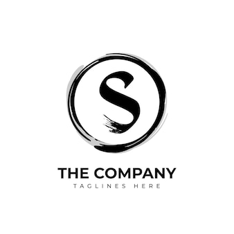 Hand painted s logo template