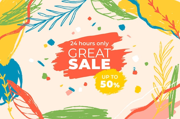 Hand painted sale background