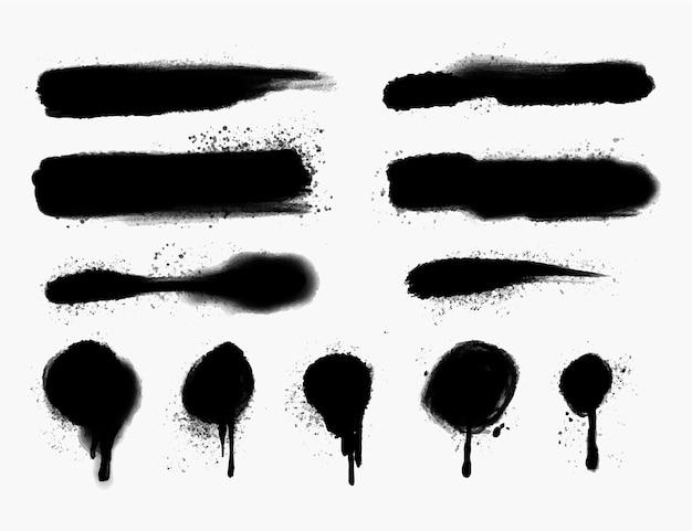 Ручная роспись линий распыления и сбор капель