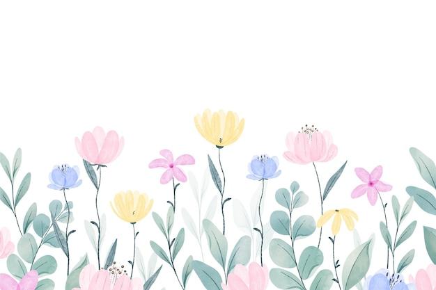 Sfondo primavera dipinta a mano