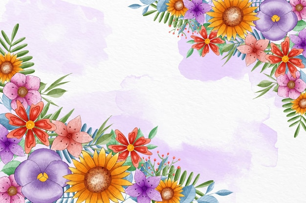 Ручная роспись весенний фон
