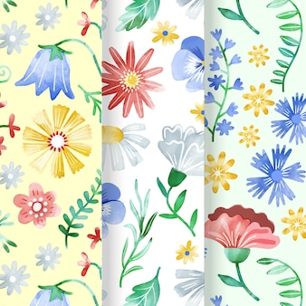 Hand painted spring pattern collection