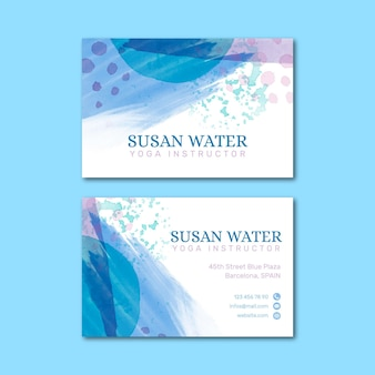 Hand painted style business cards