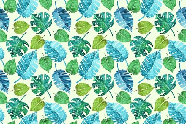 Ручная роспись летний тропический узор