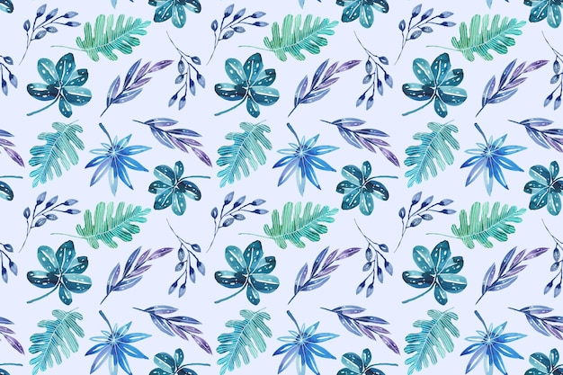 Hand painted summer tropical pattern