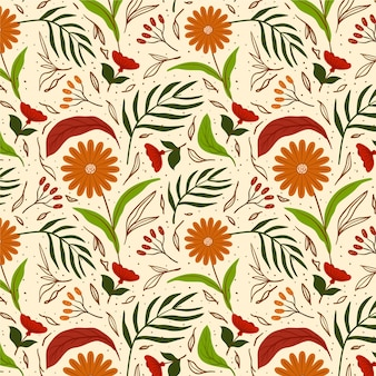 Hand painted sunflower exotic floral pattern
