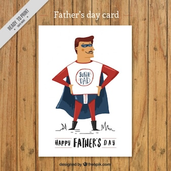 Hand painted super dad card