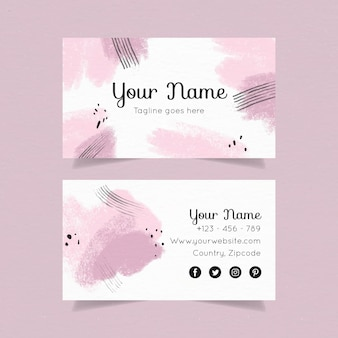 Hand painted template for business cards