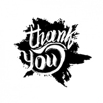 Hand painted thank you design