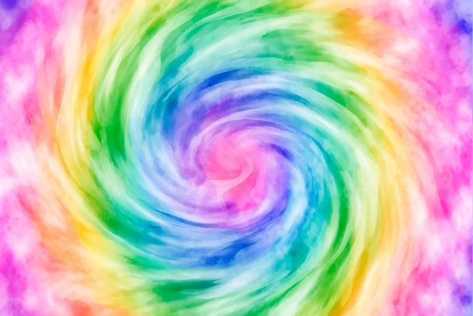 Hand painted tie-dye rainbow background