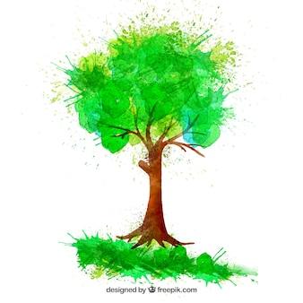 Mano albero dipinto