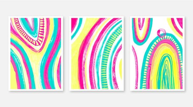 손으로 그린 수채화 추상 미술 커버 컬렉션
