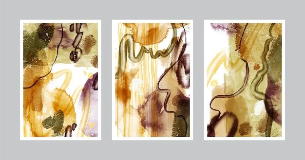 Ручная роспись акварельной абстрактной художественной обложкой