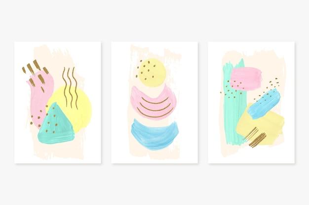 手描き水彩抽象芸術カバーコレクション