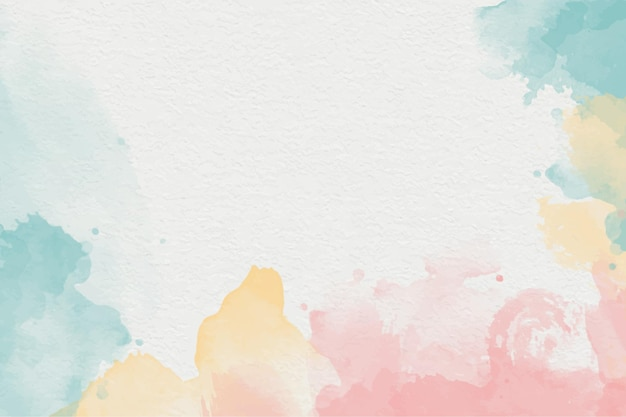 Ручная роспись акварель фон формы красочные небо и облака