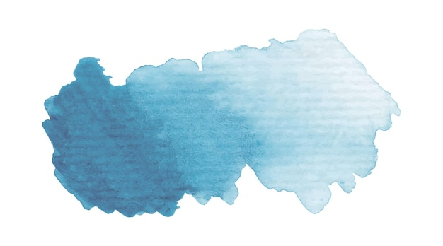 Hand painted watercolor banner with gradient wash. vector illustration isolated on white background